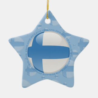Finland Bubble Flag Ceramic Ornament