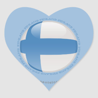 Finland Bubble Flag Heart Sticker