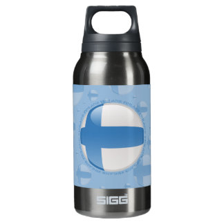 Finland Bubble Flag Insulated Water Bottle