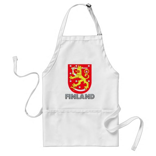 Finland Coat of Arms Adult Apron