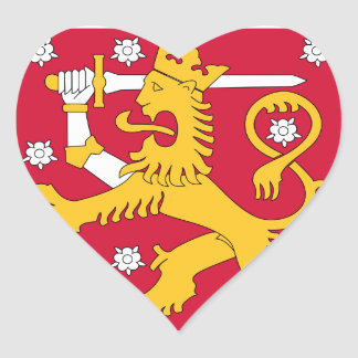 Finland Coat of arms FI Heart Sticker