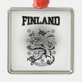 Finland Coat of Arms Metal Ornament