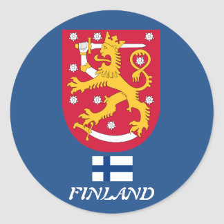 Finland* Coat of Arms Round Sticker