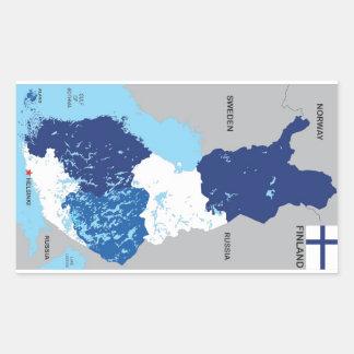 finland country political map flag rectangular sticker