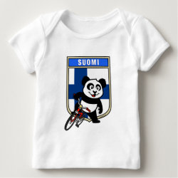 Baby Fine Jersey T-Shirt with Finnish Cycling Panda design
