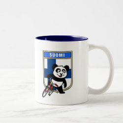 Two-Tone Mug with Finnish Cycling Panda design