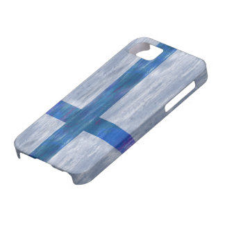 Finland distressed Finnish flag iPhone SE/5/5s Case