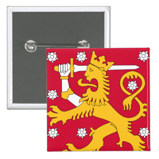 finland emblem pinback button
