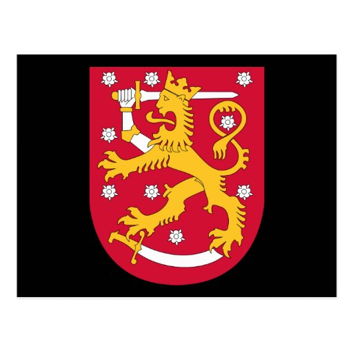 finland emblem postcard