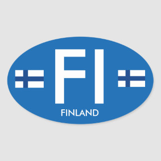Finland Euro-style Glossy Oval Sticker  Suomi Tarr
