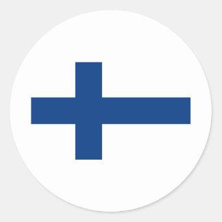 Finland FI Classic Round Sticker