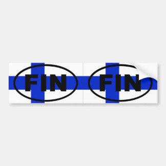 Finland - FIN - European oval Bumper Sticker