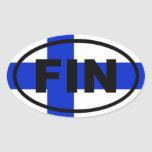 Finland - FIN - European Oval Sticker