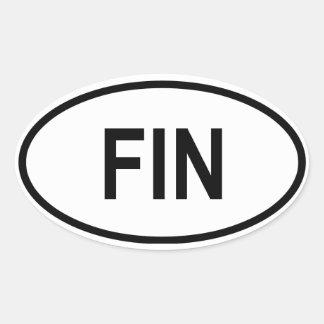 "Finland ""FIN"" Oval Sticker"