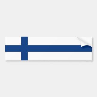 Finland/Finnish/Finn (Civil) Flag Car Bumper Sticker