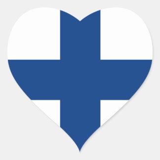Finland/Finnish/Finn (Civil) Flag Heart Sticker