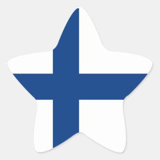 Finland/Finnish/Finn (Civil) Flag Star Sticker