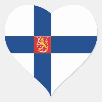 Finland/Finnish/Finn Heart Flag Heart Sticker