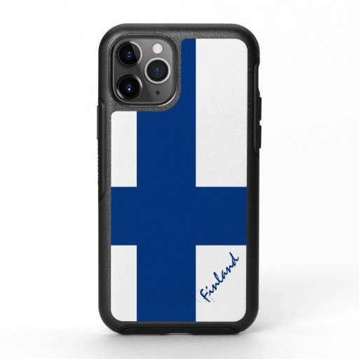 Finland & Finnish Flag fashion, travel /sports OtterBox Symmetry iPhone 11 Pro Case
