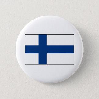 Finland – Finnish Flag Pinback Button