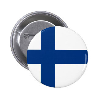 Finland – Finnish National Flag Pinback Button