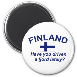 Finland Fjord 2 Inch Round Magnet