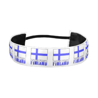 Finland Flag and Snow Capped Name Athletic Headband