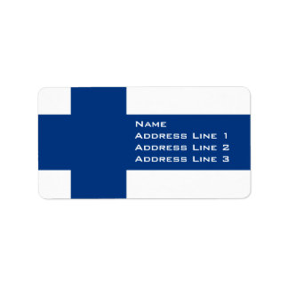 Finland Flag Avery Address Label or Name Tag