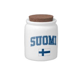 Finland + Flag Candy Jar