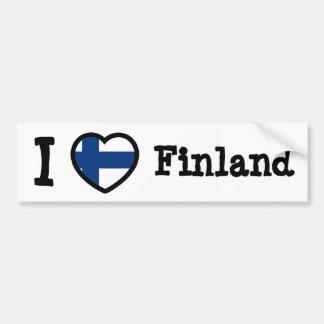 Finland Flag Car Bumper Sticker