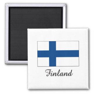 Finland Flag Design Magnet
