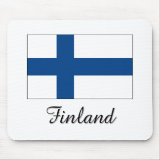 Finland Flag Design Mouse Pad