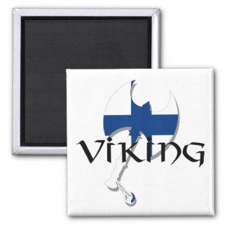 Finland flag Finnish Suomi Viking Axe Fridge Magnet