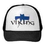 Finland flag Finnish Suomi Viking Axe Trucker Hat