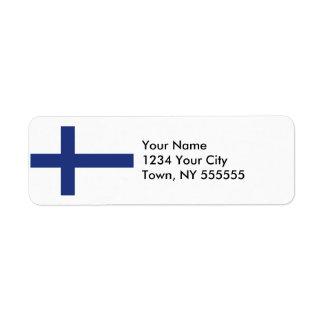 Finland Flag Label