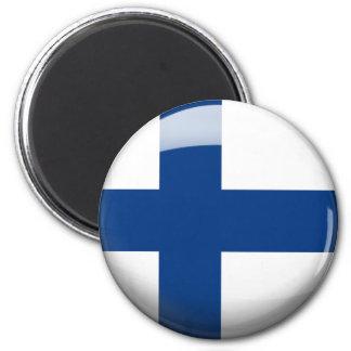 Finland Flag 2 Inch Round Magnet