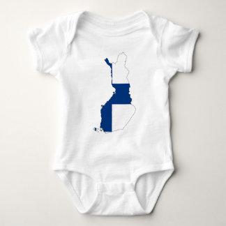 Finland Flag Map Baby Bodysuit