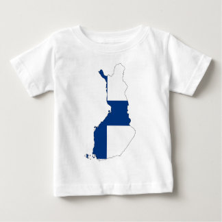 Finland Flag Map Baby T-Shirt