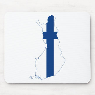 Finland Flag map FI Mouse Pad