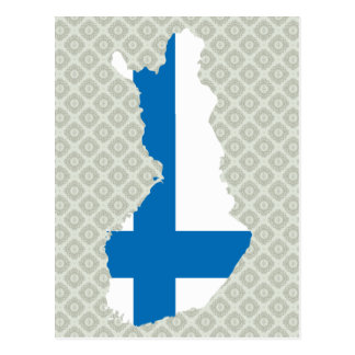 Finland Flag Map full size Postcard