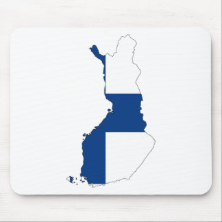 Finland Flag Map Mouse Pad