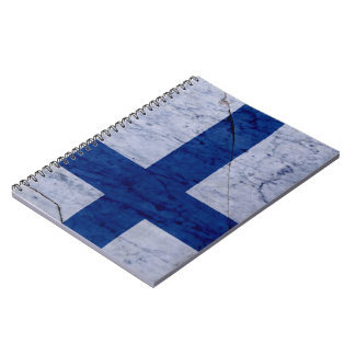 Finland Flag Marble Stone Notebook