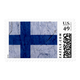 Finland Flag Marble Stone Postage Stamp