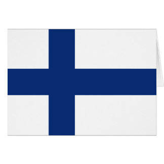 Finland Flag Notecard Stationery Note Card