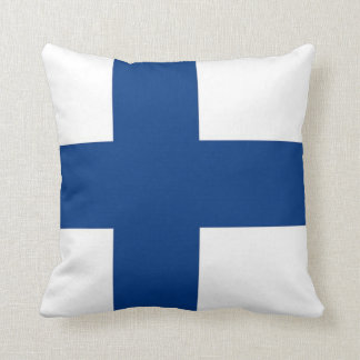 Finland Flag on American MoJo Pillow