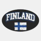 Finland Flag Oval Sticker
