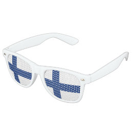 Finland Flag Retro Sunglasses