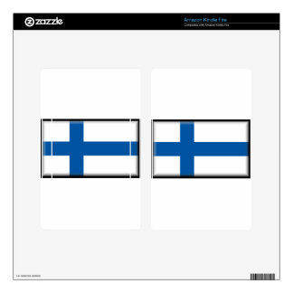 Finland Flag Kindle Fire Decal