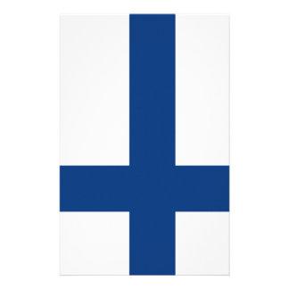 Finland flag stationery