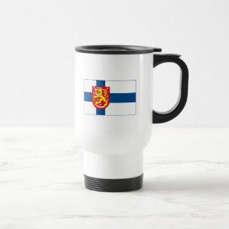 Finland Flag w COA (light) Mug